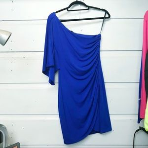 One Sleeve Blue Dress